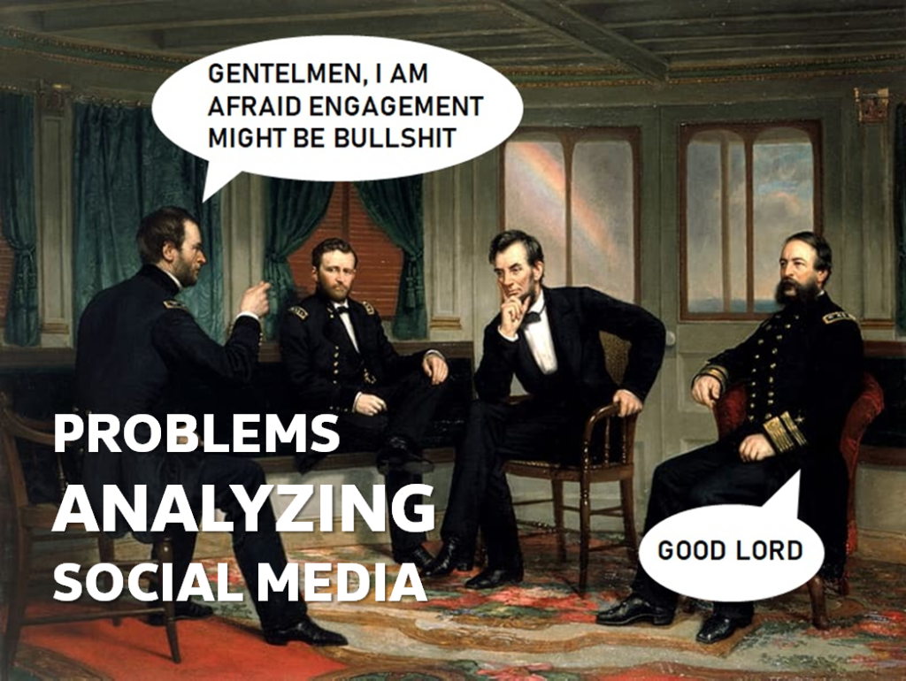problems analyzing social media